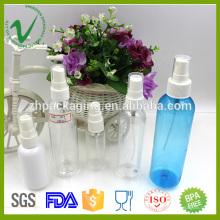 2016 Botella de perfume plástica transparente vacía redonda del vacío del ANIMAL DOMÉSTICO para el empaquetado cosmético