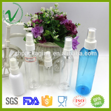 2016 PET empty round transparent spray plastic perfume bottle for cosmetic packaging