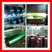 Hilo textil de película metalizada