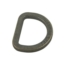 Customized Antique Silver Pewter D Ring (Inner Width: 17mm