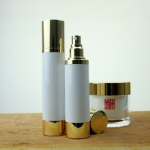 Pump Bottle For Oils Plastic Container With Aluminum Parts
