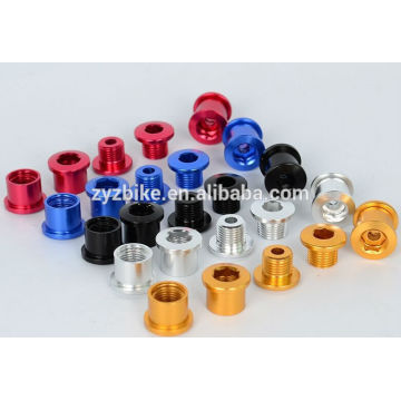 Mountain bike crankset bolts bicycle crankset nuts bolts 6.5mm aluminum crankset crank nut