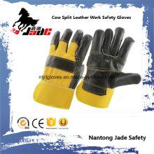 Luva de trabalho de segurança industrial de couro de couro de couro de couro preto