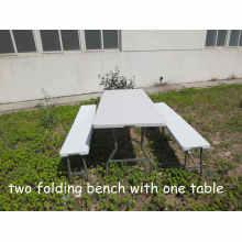 Mesa de dobramento de 6 pés Comércio de dobrar na meia mesa Outdoor Camping