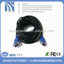NOUVEAU Câbles PREMIUM SVGA / VGA Câble HD15PIN Câble noir Moniteur LCD Câble Moniteur CRT