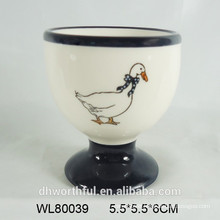 Ceramic kitchen egg cups with full decal