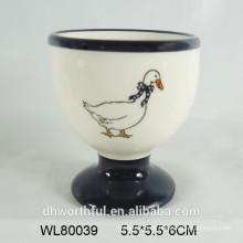 Cerâmica, cozinha, ovo, copos, cheio, decalque