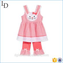 Лето дети одежда комплект Детский майка с шортами детские хлопок одежда