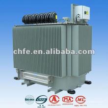Transformador de distribución de energía eléctrica llenado líquido