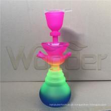 Cachimbo de água de vidro colorido com LED para serviço de OEM