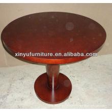 Barata mesa de café em madeira de cor marrom barata C1037