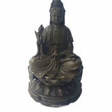 Statue en bronze de bronze de Lotus Bronze Statokon de bronze de Lotus Avalokitesvara Tpfx-B90