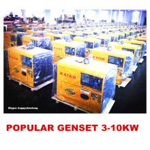 Petit générateur diesel refroidi par air 3kw, 5kw, 6kw, 10kw