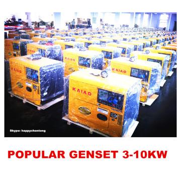 Малый дизельный генератор с воздушным охлаждением 3 кВт, 5 кВт, 6 кВт, 10 кВт