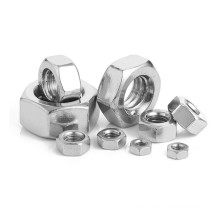 DIN 934 Stainless Steel 304 A2-70 M2 M3 M4 M5 M6 M8 M10 M12 M14 M16 M18 M20 M22 M24  M30 Hexagon Hex Nut