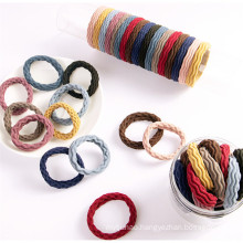Bandeau Opaska 20Pcs Scrunchies Elastic hair ties colorful custom rubber elastic hair tie bracelet ponytail holder Accessories for women Girl