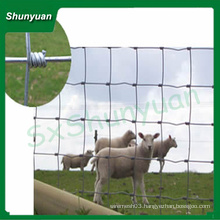 Galvanized hinge joint field fence for animal fencing