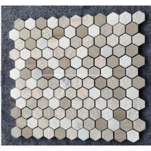 Pierre de mosaïque de marbre de plancher de salle de bains