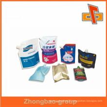 High quality full color printing destructive glue food biodegradable plastic bag