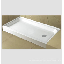 "60 ""X 32"" Rectangle acrylique Cupc Center Drain Base de douche"