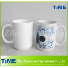 Taza de la taza de café blanca llana al por mayor de Gaint de la porcelana