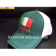 baseball cap with Italy flag logo
