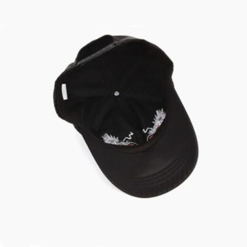 Black Satin Baseball Cap Embroidery Satin Basbeall Cap