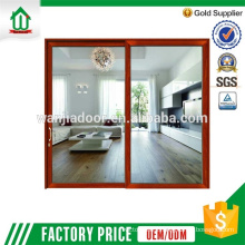 120 series luxury aluminum double tempered glass door