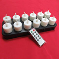 Remoto lista inductivo recargable LED vela de tealight