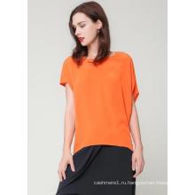 100% Женщин Помыл Шелковая Рубашка