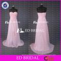 Real Sample Cheap Sweetheart A Line Long Peach Chiffon Bridesmaid Dress Wholesale