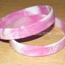 Eco-Friendly Colorful Swirl Silicone Rubber Wristband