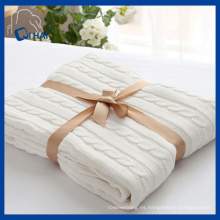 El cáñamo de alta calidad florece la manta del algodón (QHBL0091)