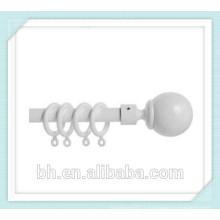 Nouveau 35mm en plastique blanc Rideau Pole Rod Rings Curtains Loops Gliders
