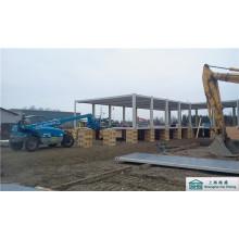 Wohncontainer auf der Holzfundament (shs-fp-accommodation050)