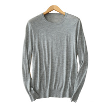 Männer Kaschmir-Pullover O Hals lange Ärmel 12GG Kabel stricken Pullover Pullover einfarbig Casual Pullover