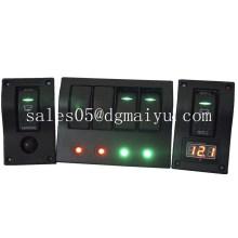 Painel do interruptor de balancim do painel do interruptor do grupo de DC12V 4
