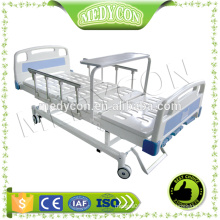 Aluminium side rails manual 3 functions hospital bed,with diner table