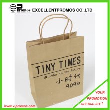 Logo Printed Natural Kraft Shopping Bag (EP-FP55514)