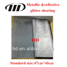 Metallic reflective glitter sheeting