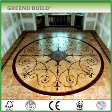 Living room art medallion floor patterns