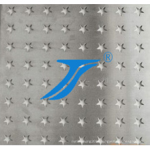 Star Style Hole Punching, Star Style Holes Perforated Metal Mesh