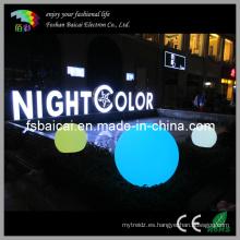 PE Material impermeable LED bolas de muebles