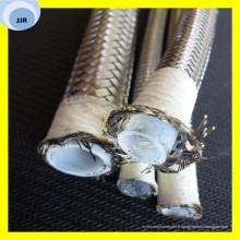 Tuyau en plastique à haute température de tuyau de PTFE de tuyau avec le fil d'acier