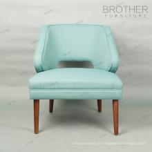 Tissu vert chaise d'accent chaise de loisirs restaurant dinant la chaise