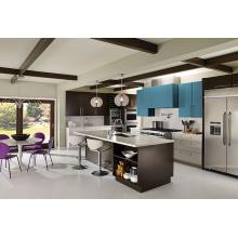 Armários de cozinha de PVC para design de móveis domésticos