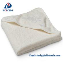 Animal design 100% cotton yellow hooded towel kid