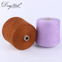 Cachemira mongol pura de la cabra del hilado de la cachemira del 100% para hacer punto la cuenta del hilado de los 2 / 26Nm Tipo de lana 120 colores