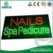 rectangle shining nails spa pedicure business led signs