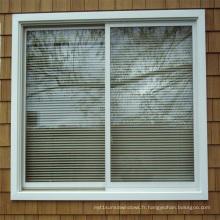 Fenêtre coulissante en aluminium enduite de puissance de Feelingtop deux rails